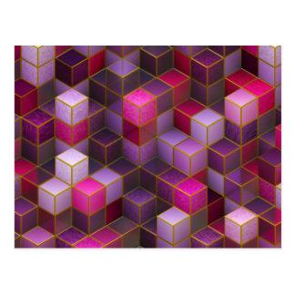 Maroon Cubes Postcard