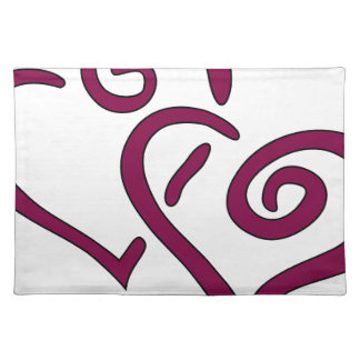 Maroon Double Heart Placemat