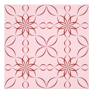 Maroon floral pattern photo art