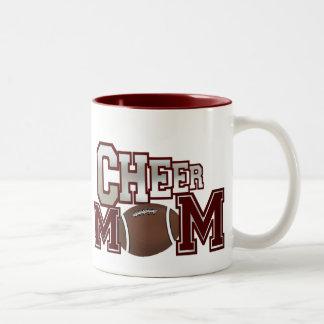 Maroon Football Cheer Mom Mug