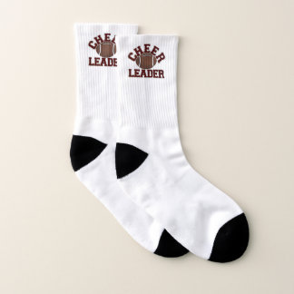 Maroon Football Cheerleader Socks 1