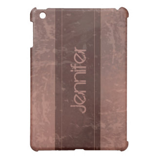 Maroon Grunge Marble Distressed  iPad Mini Cover
