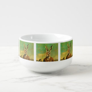 Maroon hare soup bowl