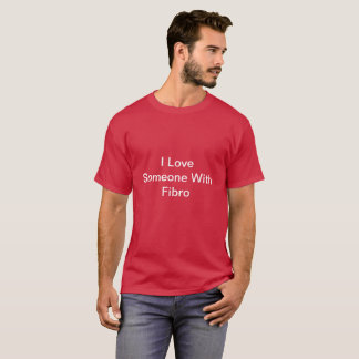Maroon I Love Someone With FIbro TShirt for Men