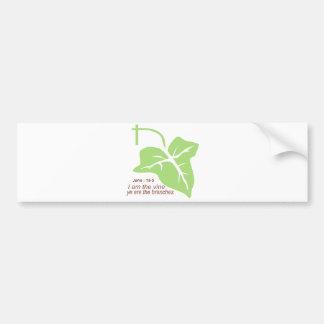 Maroon John 15-5 Vine Green Bumper Sticker