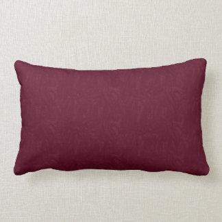 Maroon Moire Pattern Print Lumbar Pillow