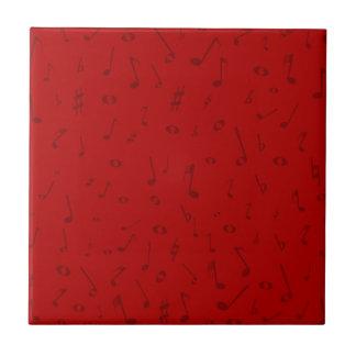 Maroon Music Background Ceramic Tile