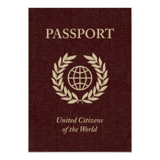 maroon passport 13 cm x 18 cm invitation card