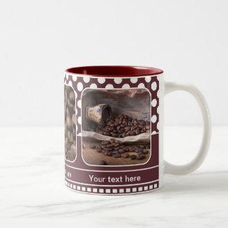 Maroon Personalized Photo Frame Coffee Mug