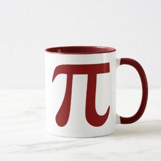 Maroon Pi Symbol Mug