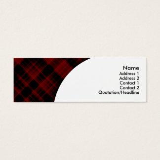 maroon plaid mini business card