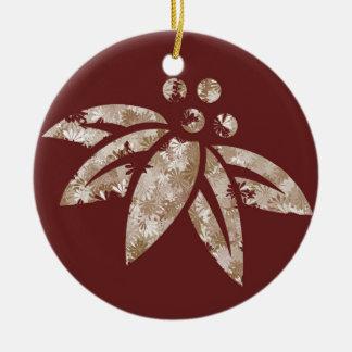 Maroon Poinsettia - Ornament