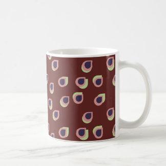 Maroon Raindrops Mug