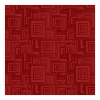 Maroon rectangles art photo
