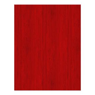 """Maroon Red Bamboo Wood Grain Look 8.5"""" X 11"""" Flyer"""