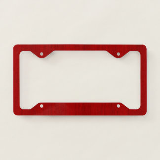Maroon Red Bamboo Wood Grain Look Licence Plate Frame