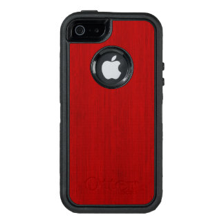 Maroon Red Bamboo Wood Grain Look OtterBox Defender iPhone Case
