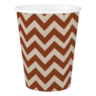 Maroon Red Chevron Paper Cup