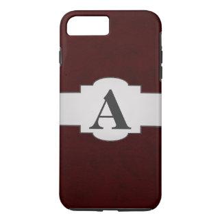 Maroon Red Color Velvet Custom Home Casino iPhone 7 Plus Case