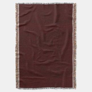 Maroon Red Color Velvet Look Dark Marsala Throw Blanket