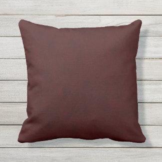 Maroon Red Color Velvet Look Dark Marsala Throw Pillow