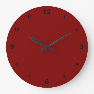 Maroon Round Clock with Numbers