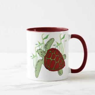 Maroon Sea Turtle Mug