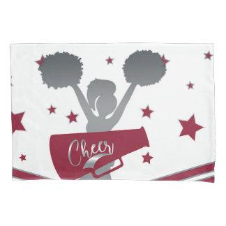 Maroon & Silver Stars Cheer Cheer-leading Girls Pillowcase