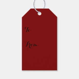 Maroon Solid Color Gift Tags