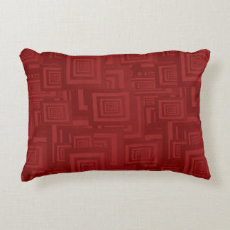 Maroon Squares Decorative Cushion