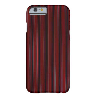 Maroon Stripe Barely There iPhone 6 Case