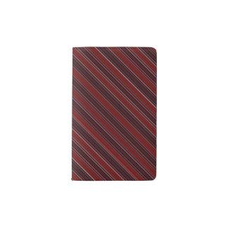 Maroon Stripe Pocket Moleskine Notebook
