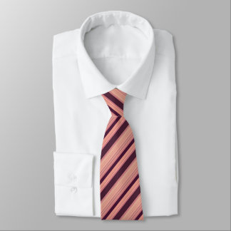 Maroon Striped Pattern Tie