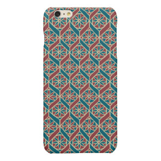 Maroon, Teal Ethnic Pattern, Flowers, Chevrons
