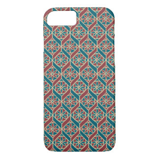 Maroon, Teal Ethnic Pattern, Flowers, Chevrons iPhone 8/7 Case