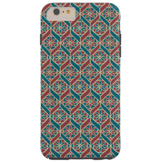 Maroon, Teal Ethnic Pattern, Flowers, Chevrons Tough iPhone 6 Plus Case
