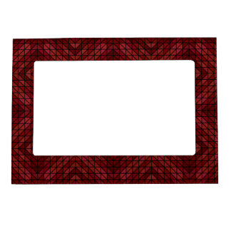Maroon triangle mosaic magnetic frame
