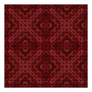 Maroon triangle mosaic photographic print