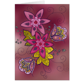 Maroon Tulip Greeting Card (blank)