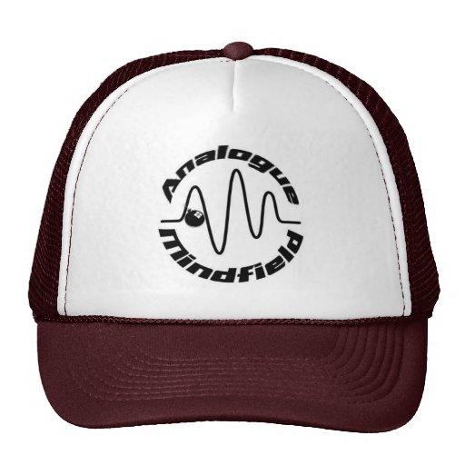 Maroon & white trucker  w/Analogue Mindfield logo Hats