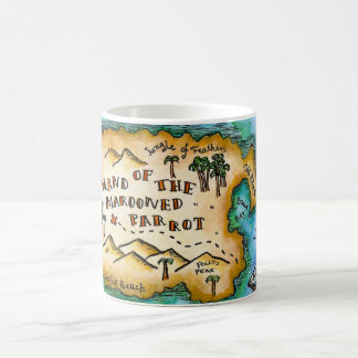 Marooned Parrot Pirate Treasure Map Mug