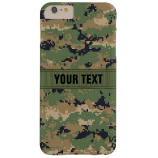 MarPat Digital Woodland Camo #2 Personalized Barely There iPhone 6 Plus Case