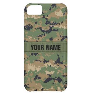 MarPat Digital Woodland Camo #2 Personalized iPhone 5C Case