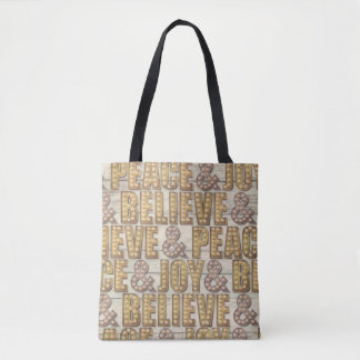 Marquee christmas holiday tote bag