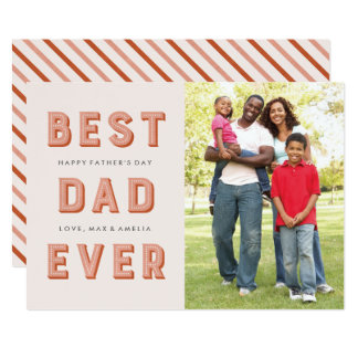 Marquee Father's Day Card - Rust 13 Cm X 18 Cm Invitation Card