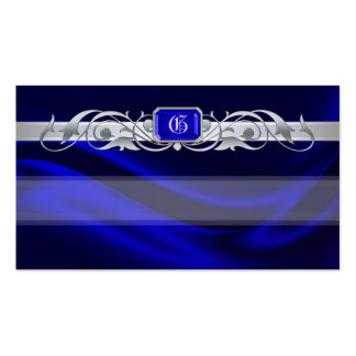 Marquis Blue Jewel Silver Scroll Favor Tags Pack Of Standard Business Cards