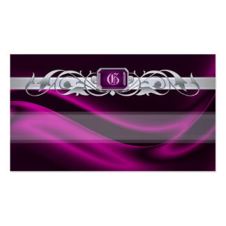 Marquis Pink Jewel Silver Scroll Favor Tags Pack Of Standard Business Cards