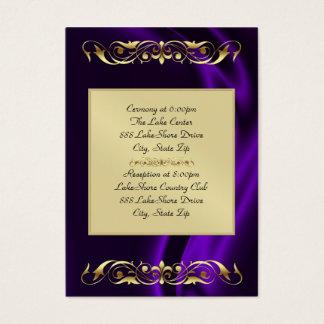 Marquis Purple Silk Gold Guest Info Business Card