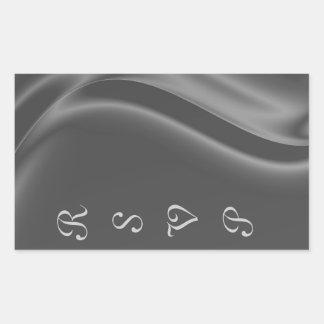 Marquis Silk Silver RSVP Sticker