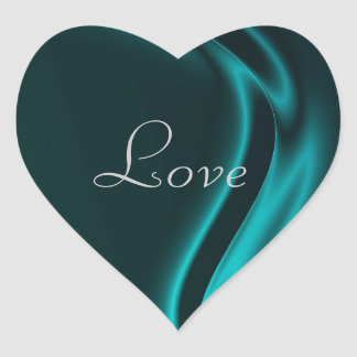 Marquis Teal Heart Love Sticker